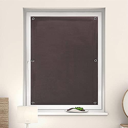 KINLO 96x115cm Dachfensterrollo Klemmfix Verdunkelungsrollo ohne Bohren Rollo Gardinen tragbare Sichtschutz Klemmrollo Seitenzugrollo Verdunkelung für Fenster und Türen