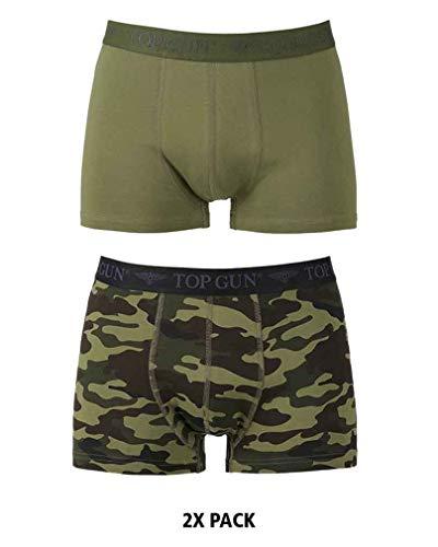 TOP GUN Boxer Shorts (2er Pack) Oliv/tarn Gr.M