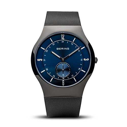 BERING Herren Analog Quarz Classic Collection Armbanduhr mit Edelstahl Armband und Saphirglas 11940-227