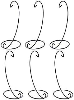 Florero Paisajismo Soporte de Exhibici/ón de Ornamento de Jarr/ón de Vidrio para Colgar Decoraci/ón del Jard/ín CUSFULL 4Pcs Soportes Colgante de Hierro Negro Planta