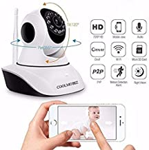 CoolMobiz 2MP P2P Intelli Eye Two Antenna CCTV Wireless 1080p Full HD Indoor And Outdoor Surveillance IP Camera with Rotatable Application based, Two Way Audio, Live view, TPZ Camera for Home and Office