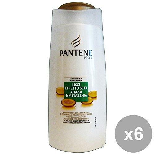 Set 6 PANTENE Shampoo 1-1 Lisci Seta 675 Ml. Prodotti per capelli