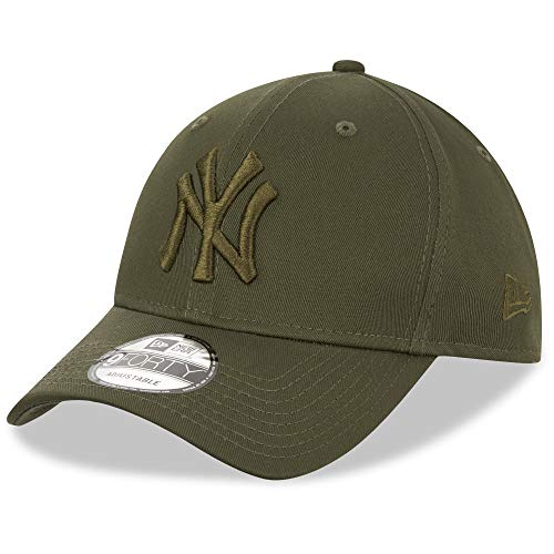 New Era York Yankees Cap 9forty Snapback Verstellbar Basecap MLB Kappe Baseball Oliv - One-Size