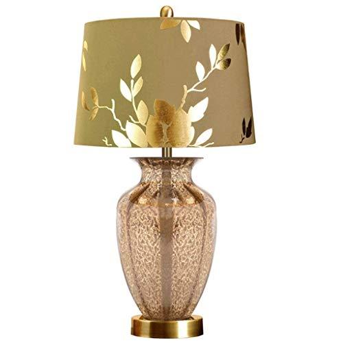Lámpara de Cabecera Lámpara Europea Tabla dormitorio lámpara de cabecera de lujo de estar Tamaño de la lámpara minimalista moderno de la sala de bodas luces regulables Lámparas de mesa habitaciones in