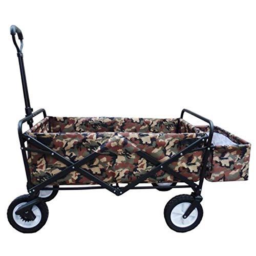 SOAR Faltbarer Bollerwagen Garten Wagen Heavy Duty Faltbare Pull Wagon Bollerwagen-4-Rad Trolley Folding - Tragbare Garten und DIY Wagen
