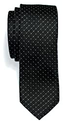 Premium Check Textured Woven Microfiber Skinny Tie Width: 5 cm / 2 inches, Length: 148 cm / 58 inches 100% Polyester Microfiber Unisex Tie Care Guide: Dry Clean Only