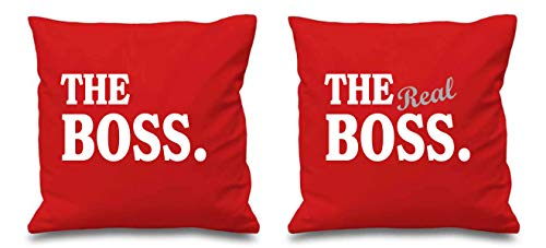 The Boss The Real Boss Housse de coussin Rouge 40,6 x 40,6 cm
