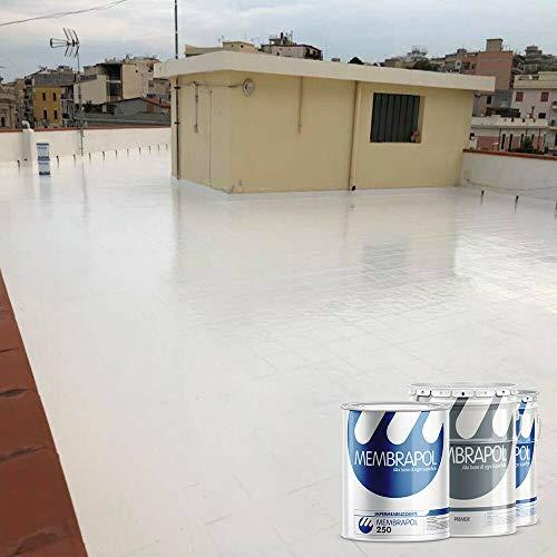 Membrapol 250 kit per impermeabilizzare balconi, terrazzi e porticati (supporto in piastrella, 4 mq)