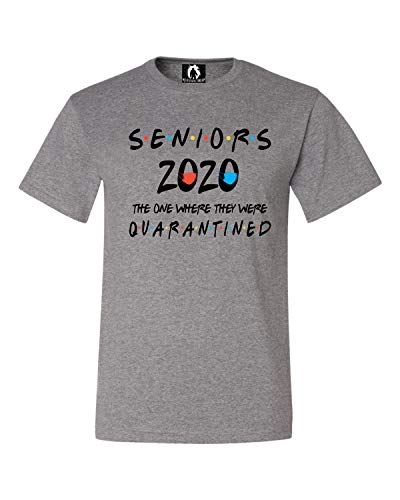 Squatch King Threads Large Oxford Adult Seniors 2020 The One Where They were Quarantined T-Shirt