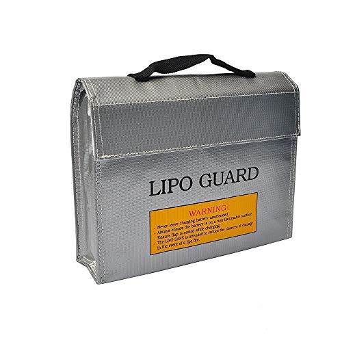 Borsa per batteria per ricarica e stoccaggio sicuri, LiPo Guard Sacchetto Batterie Protezione Borse per Giocattoli Auto Telecomando Drone Vehicle, 240x64x180mm, 1 pezzo