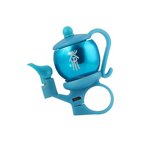 Fahrradklingel Fahrrad Glocke Ring,Persönlichkeit Im Chinesischen Stil Blau Teekanne Form, Bike Glocken Für Erwachsene Und Kinder, Gestochen Scharfe Laut Wohlklang, Mountainbike Bell, Road Bike Be