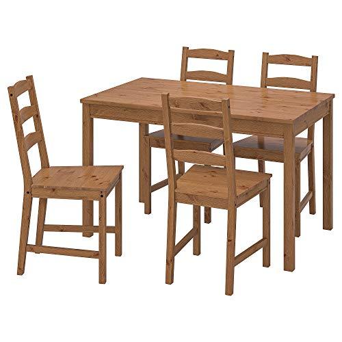 JOKKMOKK Tisch mit 4 Stühlen, 118 x 74 cm, antik gebeizt