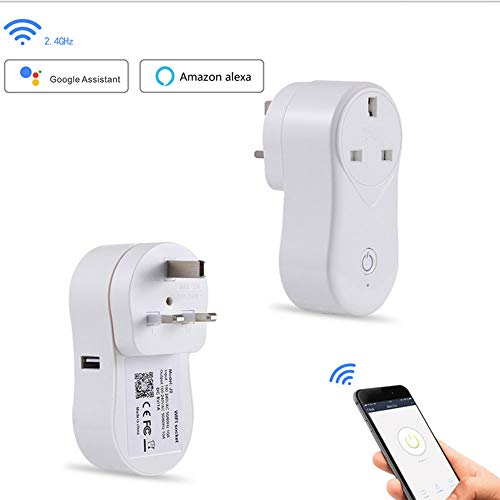 yjll Smart WiFi Plug werkt met Amazon Alexa Assistent Google IFTTT timer-instelling voor de bediening van de rem, geen hub nodig