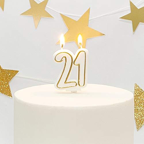 Age 21 Milestone Birthday Cake Candle