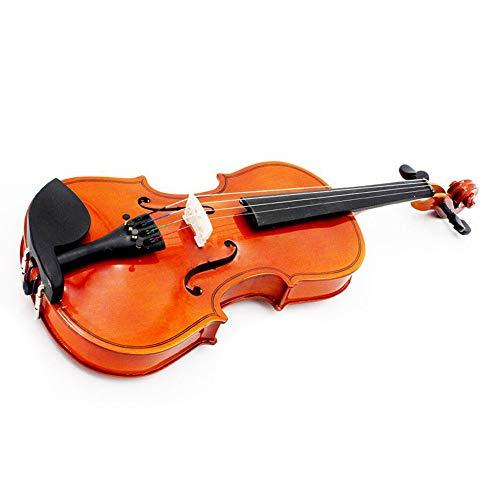ABMBERTK,Violine Größe 1/2, Naturvioline, Linde, Stahlsaite, Dornbogen, für Kinder, Anfänger, braun
