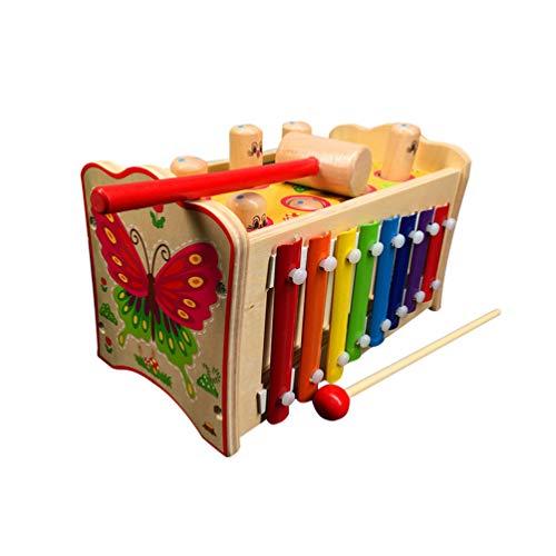 Toyvian Xylophon Spielzeug Klopfen Klavier Holz Niedlich Klopfen auf Klavier Spielzeug Pädagogisches Spielzeug Musikalisches Spielzeug Xylophon Spielzeug für Kinder Kinder Kleinkinder