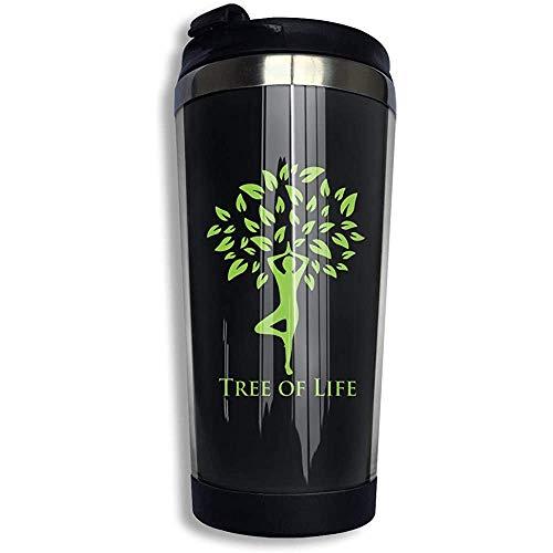 Kaffee Reisebecher Yoga Poster Auto Becher Tasse Eistee oder Wasserflasche Isolierte Thermotasse Edelstahl
