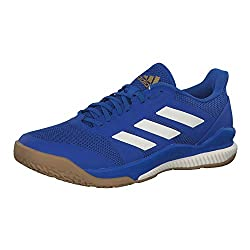 adidas Herren Handballschuhe Stabil Bounce Blue/Off White/Gold met. 42 2/3