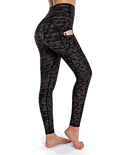 OUGES Damen-Leggings mit hoher Taille und Taschen Gr. L, camouflage