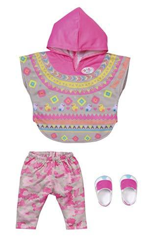 Zapf Creation 830161 BABY born Deluxe Trendy Poncho 43 cm- Puppenkleidung Set bestehend aus Poncho, Hose und Schuhen