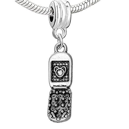 Sexy Sparkles funda para teléfono móvil de la mujer Charm Dangle Bead para pulseras de cadena de serpiente