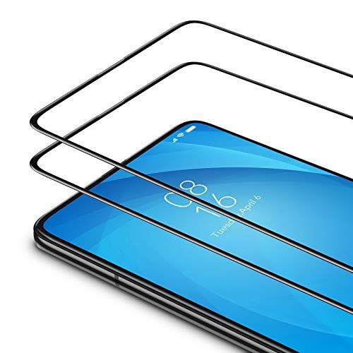 Bewahly Panzerglas Schutzfolie für Xiaomi Mi 9T / Mi 9T Pro [2 Stück], 9H Härte Panzerglasfolie Ultra Dünn HD Displayschutzfolie Vollständige Abdeckung Glas Folie für Xiaomi Mi 9T / 9T Pro - Schwarz