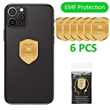 6PCs Anti EMF Radiation Protection Cell Phone Sticker, 5G EMF Shield Blocker Protector, 360 Round Block electromagnetic Waves for Mobile Phones, Radio, iPad, MacBook, Laptop, WiFi, TV... (Pack of 6)