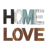 Fenteer 2x Rustic HOME LOVEレターサインフリースタンディングカットアウトレターセンターピース
