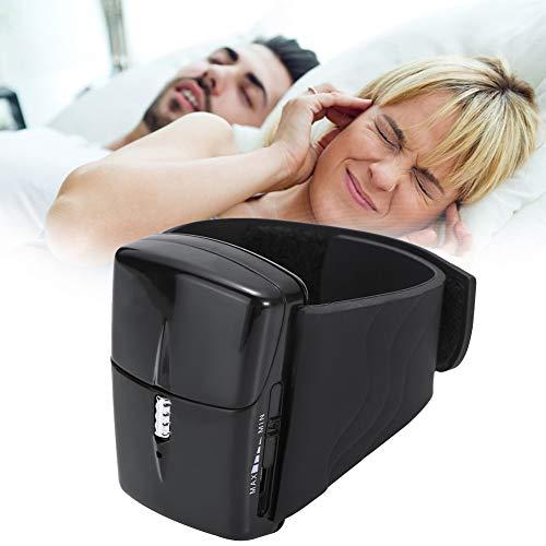 GONGYBZ Anti Schnarch Armband Armbanduhr mit Biofeedback Sensor,Effektive Schnarchstopplösung für Easing Atmung und Angenehmen Schlafblack