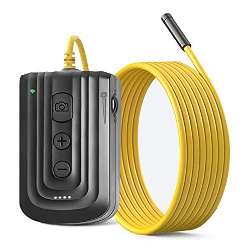 WiFi-Endoskop,Endoskopkamera,1080P zoombare Autofokus-Schlangenkamera mit 6 einstellbaren LED-Leuchten,USB-Aufladung Halbstarre Wi-Fi Endoskop Inspektionskamera für Android und iOS Smartphone-5m/5.5mm
