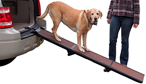 Pet Gear Tri-Fold Ramp, Supports up to 200lbs, 71 in. Long, Patented Compact Easy-Fold Design, Two...