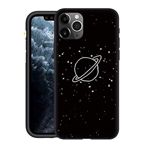 Yoedge Funda iPhone 11 Pro MAX, Ultra Slim Cárcasa Silicona Negro con Dibujos Animados Diseño Patrón Antigolpes 360 Grados...