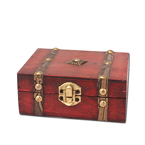 Easy 99 Vintage Storage Wooden Box Wood Jewellery Crates Treasure Chest for Jewelry Storage Home Decoration