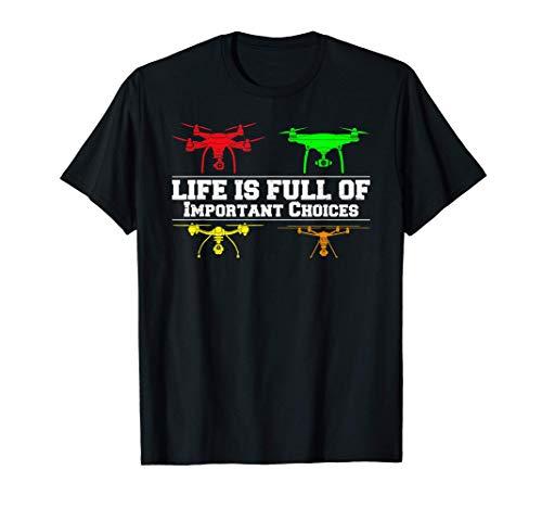Drohnenpilot Geschenk Drohne mit Kamera Quadrocopter Drohnen T-Shirt