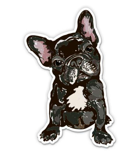 GT Graphics Express Cute French Bulldog - 3' Vinyl Sticker - for Car Laptop Water Bottle Phone - Waterproof Decal