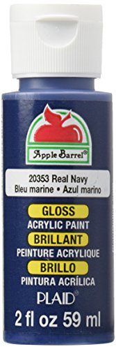 Apple Barrel Gloss Acrylic Paint in Assorted Colors (2-Ounce), 20353 Real Navy