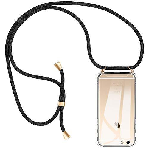 AODOOR Handykette kompatibel mit iPhone 6 / iPhone 6s, Hülle iPhone 6s Handyhülle mit Kordel Umhänge Band Silikon Schutzhülle mit Band, Halsband Hülle Handy-Kette Case mit Necklace Schnur für iPhone 6