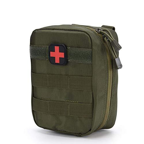 Keenso Bolsa de Primeros Auxilios Bolsa médica táctica vacía, EMT Rip Away Bag, Mochila médica para Viajes Camping Ciclismo Supervivencia al Aire Libre Primeros Auxilios(Verde)