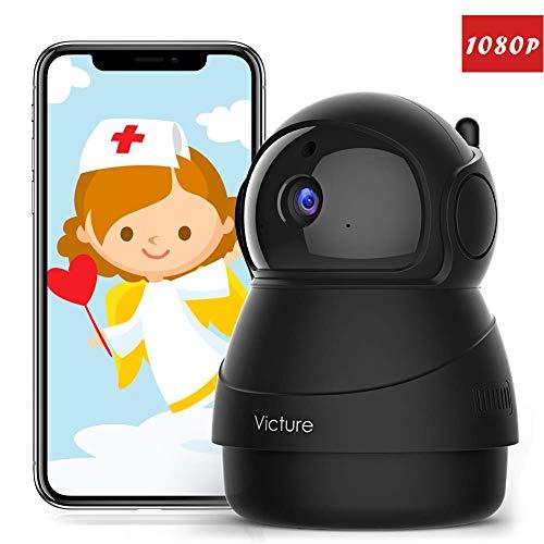 Victure 1080P Cámara IP WiFi,Cámara de Vigilancia FHD con Visión Nocturna,Cámara de Mascota,Detección de Movimiento,Audio de 2 Vías, 2.4GHz WiFi, Compatible con iOS/Android