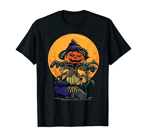 Halloween Scarecrow T-Shirt Graphic Funny Top Harajuku Aesthetic T-Shirt Women New Printed T-Shirt Women Harajuku T-Shirt