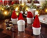 Lsv-8 Navidad creativa pequeña campana roja vino rojo botella set bar restaurante rojo vino decoración