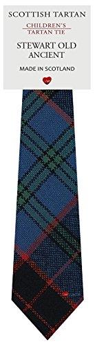 I Luv Ltd Garçon Tout Cravate en Laine Tissé et Fabriqué en Ecosse à Stewart Old Ancient Tartan