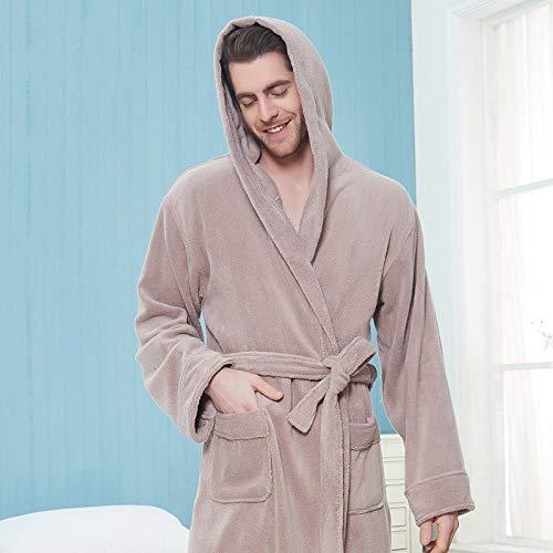 KTUCN Liebhaber Bademantel, dick und warm, für den Winter, extra weich, Größe XXL,...