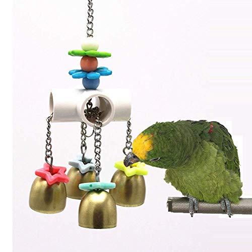 Irinay Juguetes De Campanas con Sonido Dulce Piel Chic Pájaros Loros Periquitos Periquitos Cacatúas Pinzones Guacamayos Canarios Cacatúa Cacatúa Jaula De Amazon