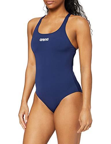 Arena Damen Solid Swim Pro Badeanzug, Navy/White, 42