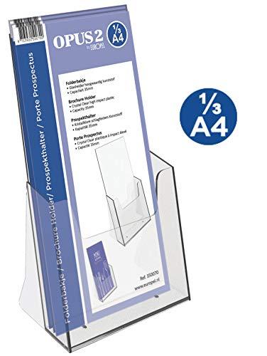 color plateado Soporte met/álico para carpetas y archivadores 10 unidades MM Spezial