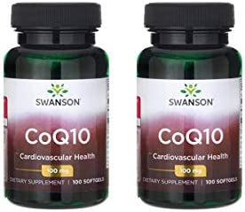 Swanson CoQ10 Heart Health Cardiovascular Brain Energy Antioxidant Support Coenzyme Q10 Supplement 100 mg 100 Softgels