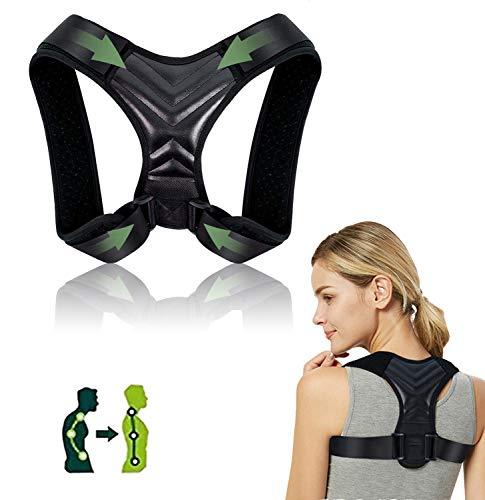 Newlemo Haltungskorrektur, Rückenstütze für Männer und Frauen, Einstellbare Geradehalter zur Verbesserung der Körperhaltung - Bietet Rückenstütze, hilft bei Nacken-, Rücken- und Schulterschmerzen