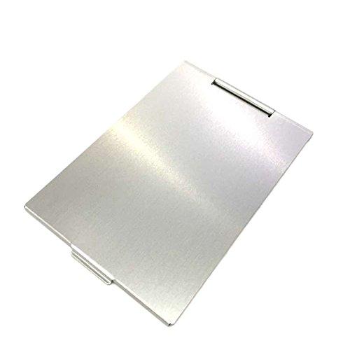Milopon Espejo de Maquillaje Cosmético Rectangular Delgado Color Aleatorio 98*68mm Espejo de Mesa para Belleza Habitación Despacho Trabajo