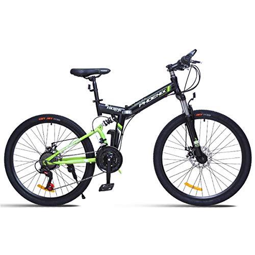 KOSGK 26 'Mountainbike Unisex Fahrräder 24 Geschwindigkeiten Scheibenbremse mit 17' Rahmen Schwarz & Rot, Grün, 26 '